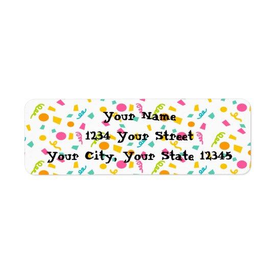 Confetti Address Label