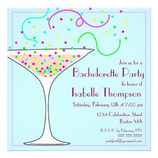 Confetti Bachelorette Party Invitation