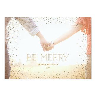 Confetti BE MERRY Christmas Holiday Card 13 Cm X 18 Cm Invitation Card