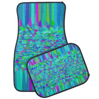 Confetti Blues Fringe Floor Mat