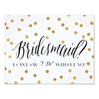 Confetti Bridesmaid | Bridesmaid Card