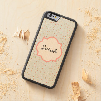 Confetti Cake • Blue Buttercream Frosting Carved® Maple iPhone 6 Bumper Case