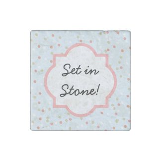 Confetti Cake • Blue Buttercream Frosting Stone Magnet