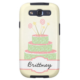 Confetti Cake • Green Birthday Cake Samsung Galaxy SIII Case