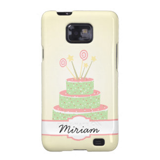 Confetti Cake • Green Birthday Cake Galaxy S2 Cover