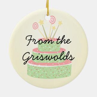 Confetti Cake • Green Birthday Cake Christmas Ornament