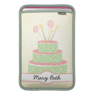 Confetti Cake • Green Birthday Cake MacBook Sleeve