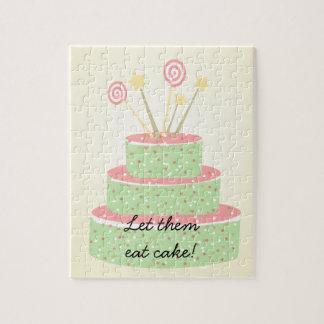 Confetti Cake • Green Birthday Cake Jigsaw Puzzle
