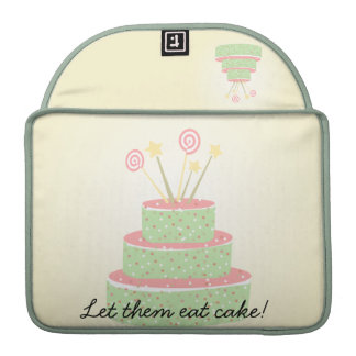 Confetti Cake • Green Birthday Cake Sleeve For MacBook Pro