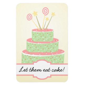 Confetti Cake • Green Birthday Cake Vinyl Magnets