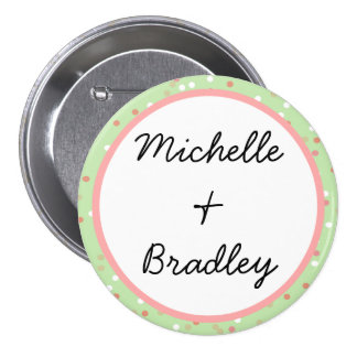 Confetti Cake • Green Buttercream Frosting Pinback Buttons