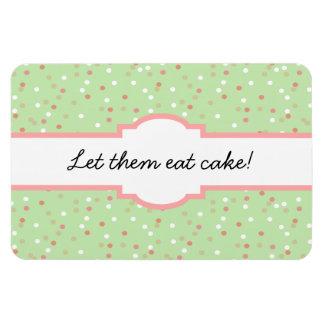 Confetti Cake • Green Buttercream Frosting Rectangle Magnet