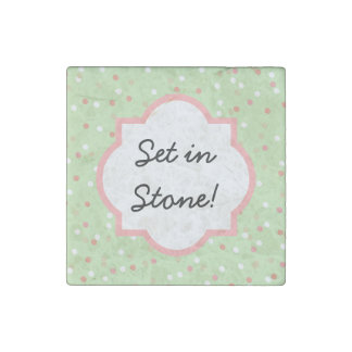 Confetti Cake • Green Buttercream Frosting Stone Magnet