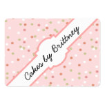 Confetti Cake • Pink Buttercream Frosting Pack Of Chubby Business Cards