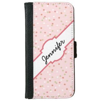 Confetti Cake • Pink Buttercream Frosting iPhone 6 Wallet Case