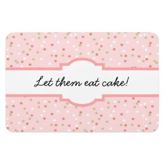 Confetti Cake • Pink Buttercream Frosting Vinyl Magnet