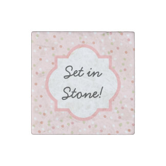 Confetti Cake • Pink Buttercream Frosting Stone Magnet