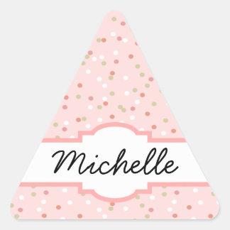 Confetti Cake • Pink Buttercream Frosting Triangle Sticker