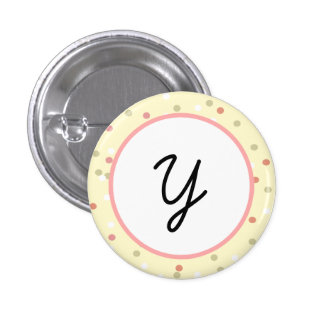 Confetti Cake • Yellow Buttercream Frosting Pinback Buttons
