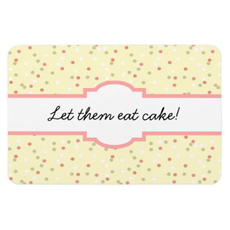 Confetti Cake  • Yellow Buttercream Frosting Rectangular Magnets