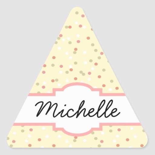 Confetti Cake  • Yellow Buttercream Frosting Triangle Stickers