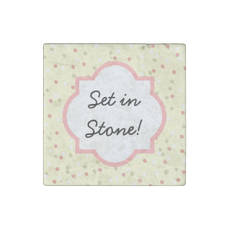 Confetti Cake  • Yellow Buttercream Frosting Stone Magnet