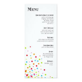 Confetti Celebration Dinner Menu Personalized Invitations
