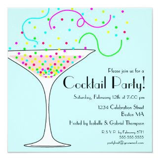 Confetti Cocktail Party Invitation