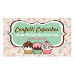 Confetti Cupcakes Trio Business Cards