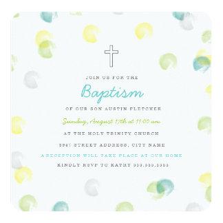 Confetti Dot Baptism Invitation