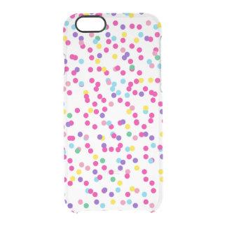 Confetti Dots Clear iPhone 6/6S Case