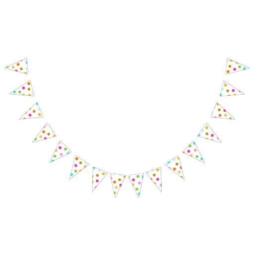 Confetti Dots Triangle Party Bunting Banner