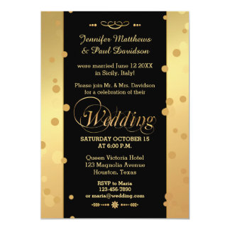 Confetti Elope or Post Wedding Party Invitation