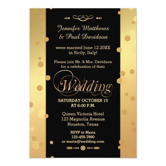 Confetti Elope or Post Wedding Party Invitation