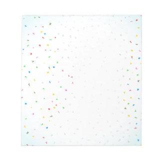 Confetti Falling Notepad