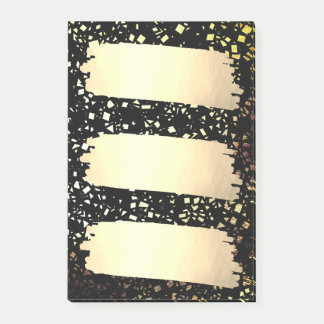 Confetti Faux Gold Foil Look List Grad Graduation Post-it Notes