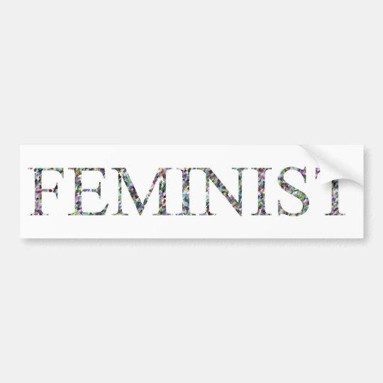 Confetti Feminist.jpg Bumper Sticker