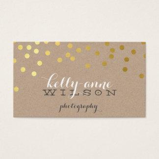 CONFETTI GLAMOROUS cute gold foil bold spot kraft