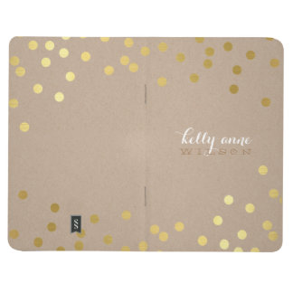 CONFETTI GLAMOROUS cute spot gold crafty kraft Journal