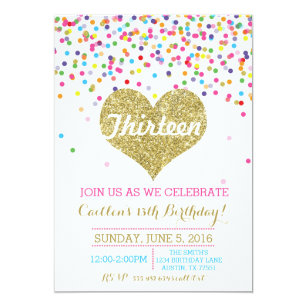 13th Birthday Invitations Announcements Zazzlecouk