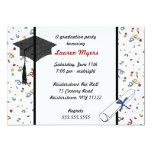 """Confetti Grad Cap Diploma 2011 Invite 5"""" X 7"""" Invitation Card"""