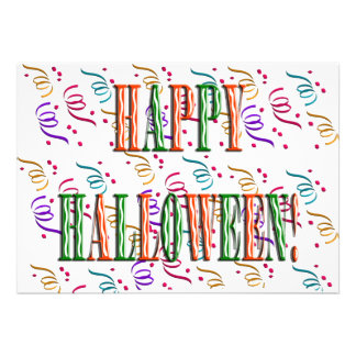 Confetti & Halloween Festival Text Invitation