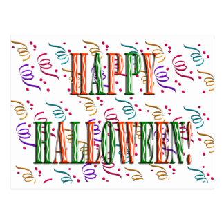 Confetti & Halloween Festival Text Postcard