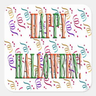Confetti & Halloween Festival Text Sticker Square Sticker