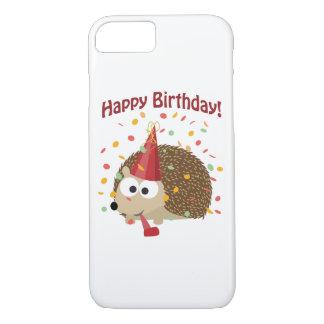 Confetti Happy Birthday Hedgehog iPhone 7 Case