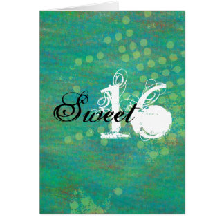 Confetti Happy Sweet Sixteen Birthday Card