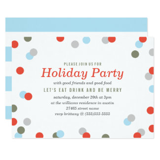 Confetti Holiday Party Card