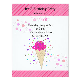 Confetti Ice Cream Birthday Party Card