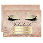Confetti Lashes Gold Pink Makeup Certificate Gift Card