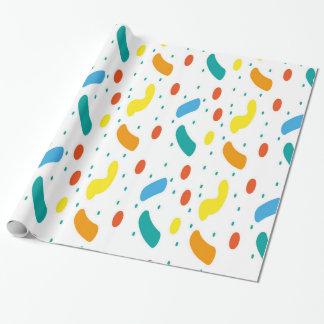 Confetti, modern pattern wrapping paper
